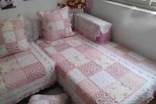 Pink Cotton Door Floor Mat Rug Runner Sofa Couch Throw Carpet Vintage Frill Grid