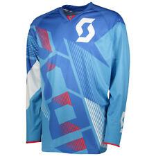 Scott 350 Dirt MX Motocross Jersey / DH Fahrrad Trikot blau/weiß 2018