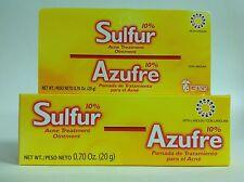 GRISI 10% SULFUR ACNE OINTMENT .70 OZ - POMADA DE AZUFRE GRISI CONTRA ACNE