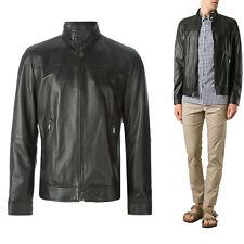 ★Giacca Giubbotto Uomo in di PELLE 100% Men Leather Jacket Veste Homme Cuir Y24