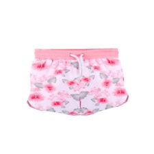 Top Model Shorts kurze Hose Blumendruck weiß rosa