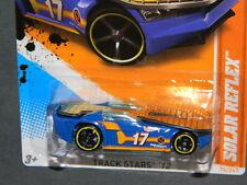 HW HOT WHEELS 2012 TRACK STARS #10/15 SOLAR RELFEX  HOTWHEEL BLUE TRACK READY