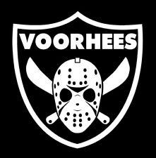 VOORHEES Raiders logo shirt Friday th 13th Jason Hockey Mask Las Vegas Oakland