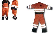 Hi Vis Waterproof Reflective Safety Work Wear Bib & Brace Jacket Set Coverall UK