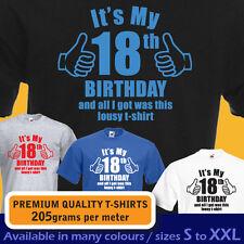 Es mi 18vo. Cumpleaños todo lo que conseguí fue pésimo Camiseta Chicos Para Hombre Chicas Teen Regalo 1998