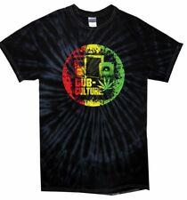 Dub Culture Reggae Men's Tie Dye T-shirt - Bob Marley Rasta Festival