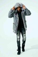 Brand New Men's Coat Jordan Craig Shearling Winter Faux Fur Jacket -CHARCOAL-