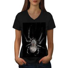 Spider Web Photo Animal Women V-Neck T-shirt NEW   Wellcoda