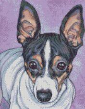 Cross stitch chart-KIT RAT Terrier DOG 1