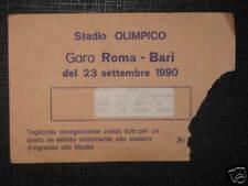 ROMA - BARI TICKET BIGLIETTO 1990/91 SERIE A