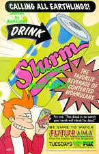 Futurama Calling All Earthlings! Fry & SLURM - FOX TV - Original 1999 Print Ad!