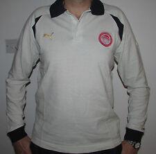 "Mens Puma Olympiakos Long Sleeved Cotton Polo Shirt Size L 41-43""Olympiacos BNWT"
