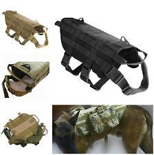 Tactical Military Molle Dog Vest Harness Pet Clothing Jacket Training Vest XS-XL