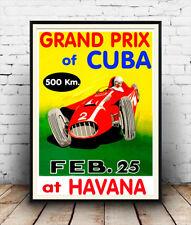 Grand Prix Cuba , Vintage motor racing  Advertisement , poster reproduction.