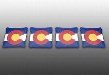 Colorado State Flag Specialty Custom Cornhole Bags -Set of 4 - Baggo - Corn Toss