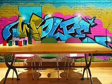 3D Couleur Lettre Photo Papier Peint en Autocollant Murale Plafond Chambre Art