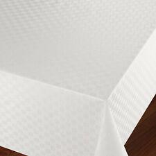 Wachstuchtischdecke Tischdecke Flechtmuster Weiß Breite & Länge wählbar
