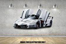 White Ferrari Enzo Sports Super Cars Decal Childrens Wall Stickers Bedroom Art