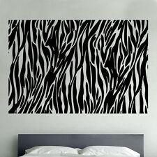 zèbre imprimé animalier Vinyle Autocollant Mural Art Faune décor chambre (SD10)