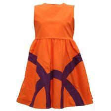 8393R vestito bimba IL GUFO arancione/viola abito dress kid