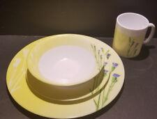 Vtg Royal Prestige France Table Charm Dinnerware Yellow Purple Floral Vintage