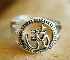 Breit Silberring 50 52 55 57 60 Om AUM Silber Ring Siegelring Siegel Glück Antik