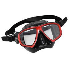 Scuba Black/Red Dive Mask FARSIGHTED Prescription RX 1/3 Optical Lenses