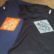 Detroit Moped Works diamond shirt vintage two stroke Puch Tomos Minarelli Morini