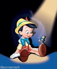 Disney's Pinocho Dibujos Animados 1940 Película Póster impresión de película de LONA pared arte Stretch
