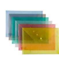 12 x Dokumentenmappe A4 Dokumententasche Sammelmappe verschiedene Farben