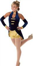 El Captian Dance Costume Biketard No Sleeves Ringmaster Circus Clearance AXL