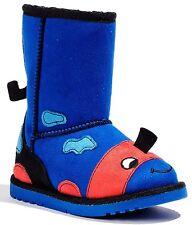 Jumping Beans Mushu Blue Toddler Boys Girls Side Zipper Boots Shoes