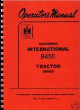 "International ""B-450"" Tractor Operator Manual"
