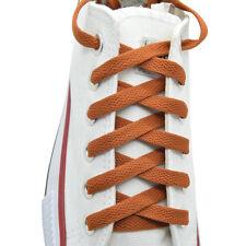 "Flat Shoelace 8 mm ""Coffee"" Athletic Sneakers 27"",36"",45"",54"",63"""