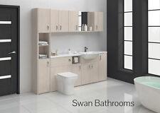 Elementi principali Bianco Bagno Montato Furniture 2100 mm con unità muro