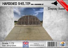 Coastal Kits 1:72 Scale Hardened Aircraft Shelter Base & Background set