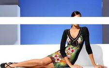 Bodyforming-Druckkleid mit Perlen bunt von CLASS INTERNATIONAL