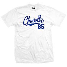Chevelle 65 Script Tail Shirt - 1965 Classic Muscle Race Car - All Size & Colors