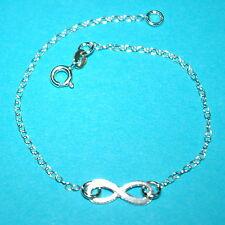 INFINITY Charm Symbol BRACELET, ANKLET, NECKLACE 925 Sterling Silver