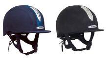 "Champion JUNIOR X-AIR DAZZLE RIDING HAT Glitter PAS015  Black Navy 6 1/4""-7 3/4"""