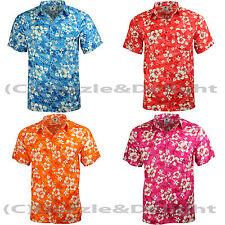 Partito Camicia Hawaiana Costume S XL XXL Spiaggia Floreale Camicia addio al celibato cotone sentire l