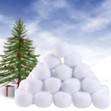 1/5/10/50X Christmas Fake Snowballs Xmas Snowball Fight Tree Plush Throwing Ball