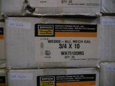 "Simpson 3/4x10"" Galvanized Wedge Anchor Part#WA75100MG 20pc/box (BB362-1)"