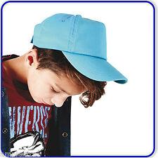 New Beechfield Boys Girls Baseball Cap School Plain Summer Junior Kids Hat B10B