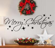 Wandtattoo Wandsticker Wandaufkleber Wohnzimmer Spruch Merry Christmas W5002