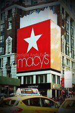 Ciudad de Nueva York Times Square América USA fotografía Macys foto impresión de arte cartel
