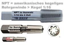 NPT Gewindebohrer Schneideisen Gewindeschneider 1/8 1/4 3/8 1/2 3/4 bis 2 Zoll