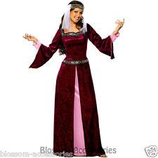 CL417 Maid Marion Adult Costume Medieval Fancy Dress Renaissance Julie Plus Size