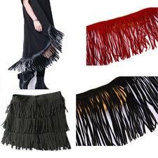 Fringe  Imitation Faux Suede Leather Trim Lace Dress DIY Craft Clothing Textiles