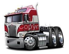 Kenworth K100 Big Rig Truck Tshirt #9543 BJ cartoontees automotive art